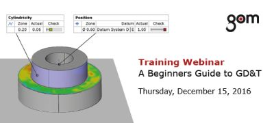 GOM besplatni trening webinar – Vodič kroz GD&T / 15. 12. 2016.